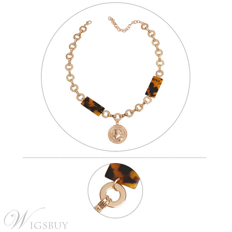 Alloy Leopard Print Necklace For Women