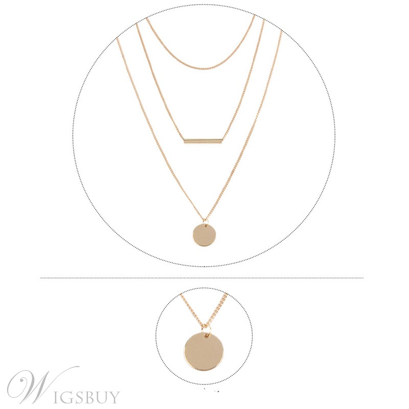 Alloy Multilayer Simple Necklace
