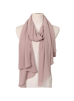Contracted Chiffon Pure Color Scarf For Women