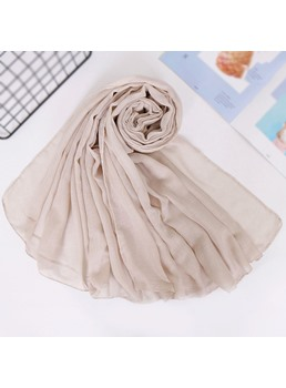 Chiffon Zephyr Pure Color Scarf