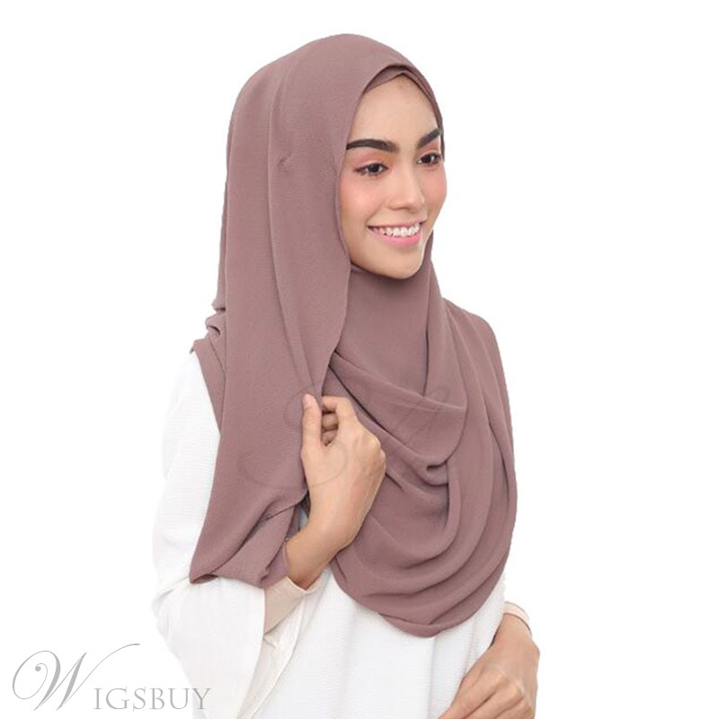 Pure Colour Chiffon 2019 New Style Scarf