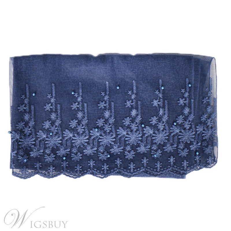 Cotton Lace Embroidery Scarf