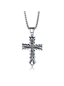 Cross Alloy Men Necklace