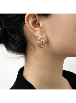Golden Simple Earrings For Women