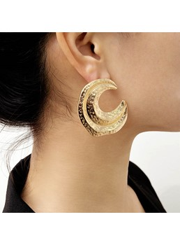 Golden Simple Earrings