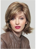 Medium Length Layered Synthetic Hair Wavy Wig 14 Inches