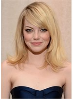 Emma Stone Hair Type Straight Blonde Human Hair Wig 16 Inches