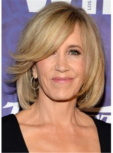 Felicity Huffman Hairstyle Bob Wig Synthetic Hair Capless Wig 14 Inches