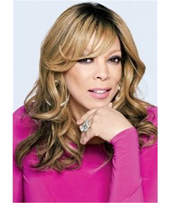 Wendy Williams Hairstyle Synthetic Wavy Hair With Bangs Lace Front Wig