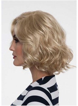 Medium Bob Wavy Synthetic Hair Capless Wig 12 Inches