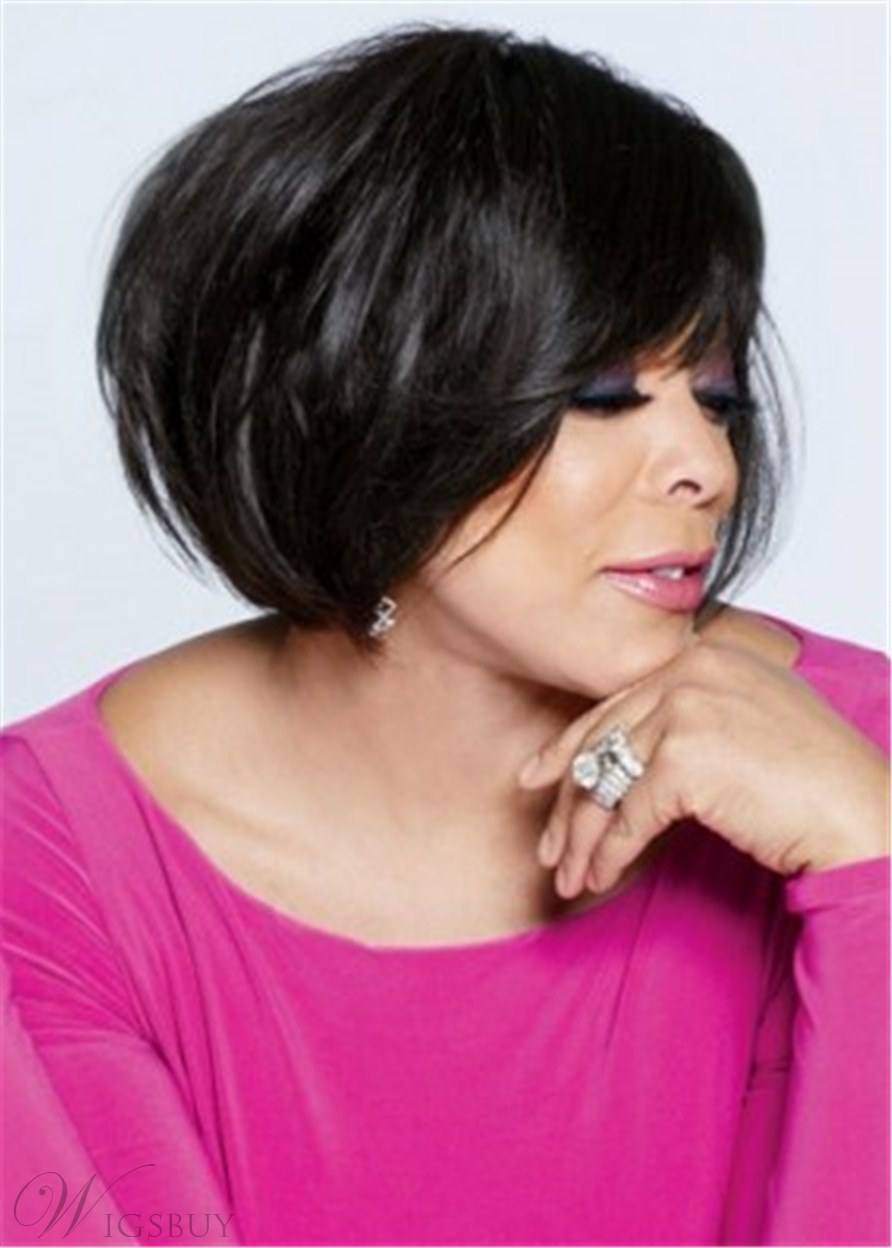 Wendy Williams Cut Easy Breezy Synthetic Hair Lace Front Wig 12 Inches
