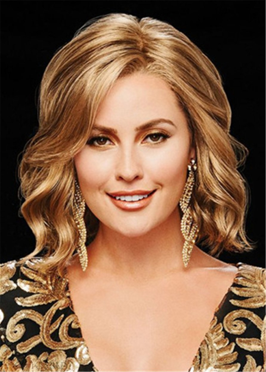Short Bob Hairstyle Wavy Synthetic Hair Capless Wigs 12 Inches