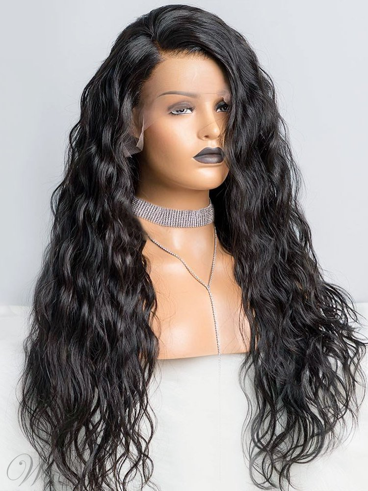 One Side Part Long Curly Synthetic Hair Lace Front Wig 24 Inches