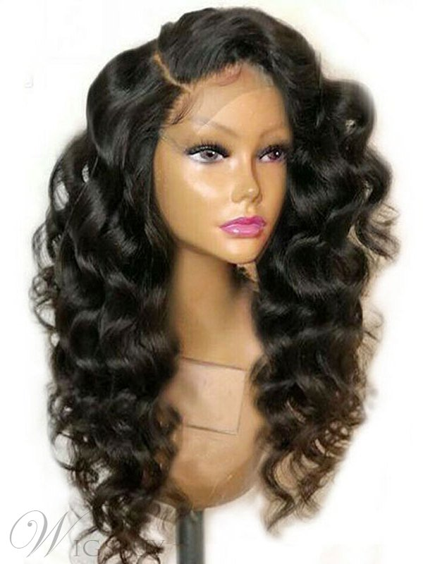 Long Big Curly Synthetic Hair Big Curly Lace Front Wig 24 Inches