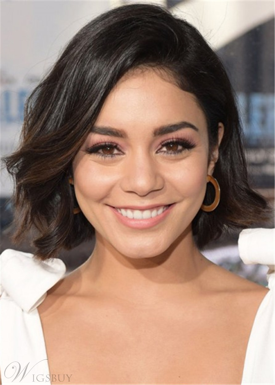 Vanessa Hudgens Hairstyle Human Hair Wavy Lace Front Wig 12 Inches