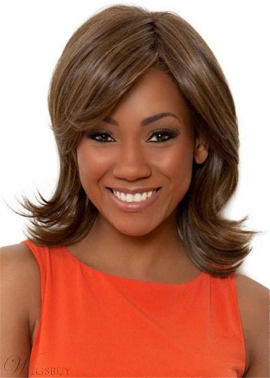 African American Layered Shoulder Length Women Wig 16 Inches