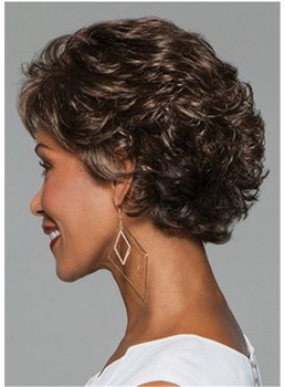 Pixie Choppy Cut Synthetic Hair Short Wavy Capless Wig 10 Inches