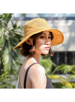 Women Flower Vacation Sunhat Bucket Hat