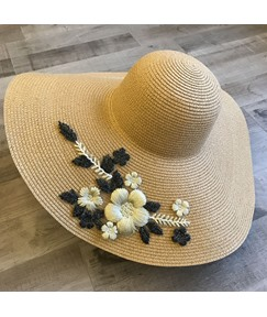 Woven Elegance Flower Summer Sunhat For Women