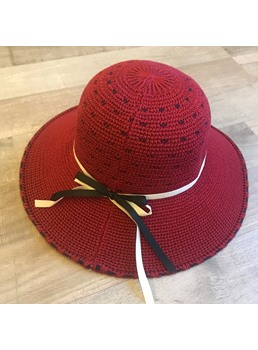 Woven Dot Summer Sunhat For Women