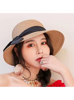 Woven Summer Straw Sunhat For Women