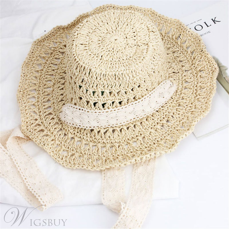 Woven Lace Summer Sunhat For Women