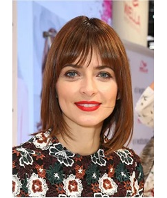 LOB Short Straight Hairstyle Natural Color Human Hair Lace Front Wigs 18 Inches