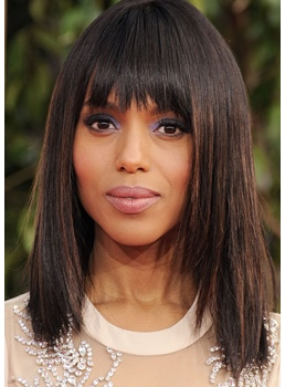 Fashionable Lob Straight Layer Shoulder Length Synthetic Hair Capless Wigs 20 Inches