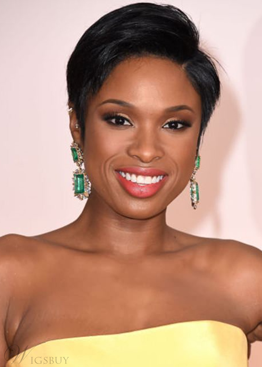 Short Straight Hairstyle Synthetic Hair Lace Front Wigs 8 Inches