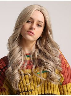 130% Density Loose Wave Capless Long Wavy Wig Synthetic Hair Wig 26inch