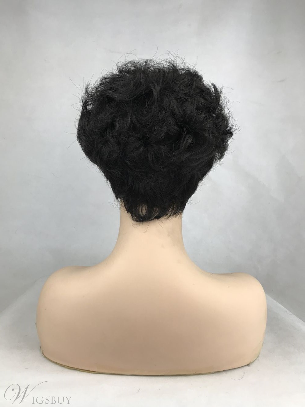Sexy Women's Short Curly Synthetic Hair Wigs With Bangs Capless Wig 10inch