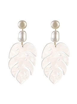 Shell Leaf Earrings
