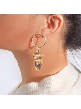 Fashion Golden Simple Earrings