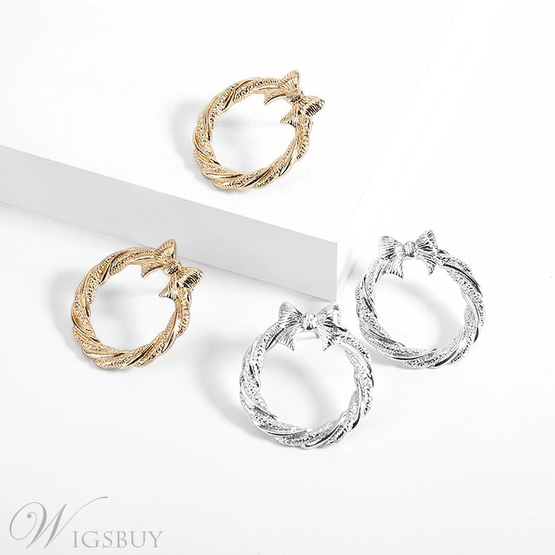 Bowknot Hoop Earring For Women