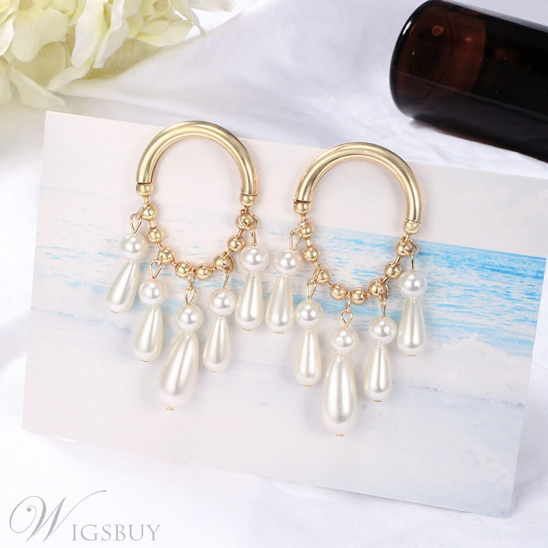 2019 Fashion New Style Hoop Pearl Earrings