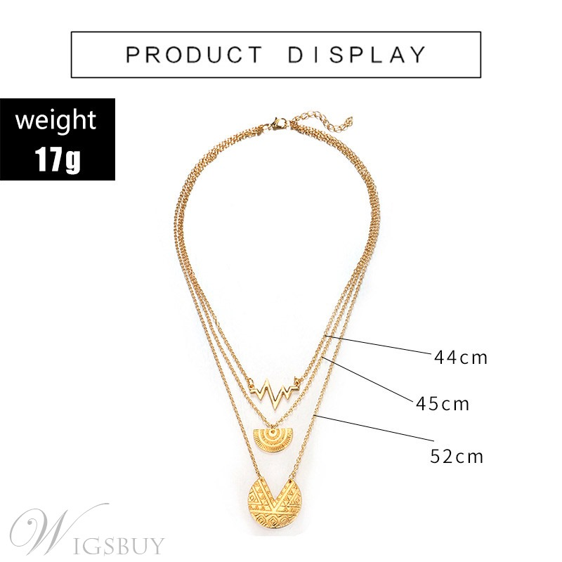Moon Semicircle Golden Necklace