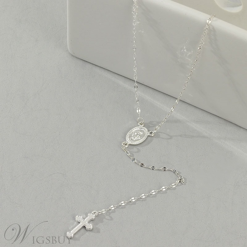 Cross Dimante Necklace