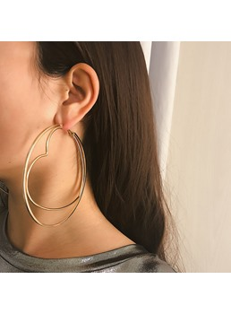Golden Hoop Fashion New Style Earrings
