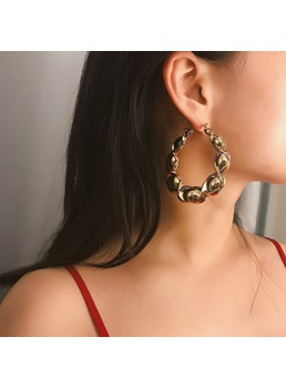Golden Fashion Simple Earrings