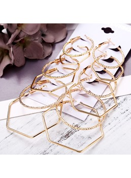 Dimante Irregular Golden Earrings