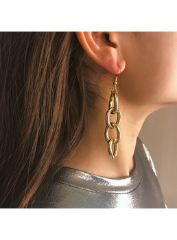 Golden Hoop Fashion Earrings