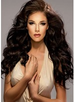 Attractive Long Length Wave Wavy100% Human Hair Capless Wigs 26 Inches