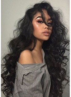 Sexy Loose Deep Wave Layer Human Hair Capless Wigs 26 Inches
