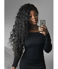 Sexy Long-Length Deep Wave Curly 100% Human Hair Capless Wig 26 Inches
