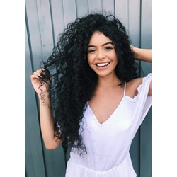 Hot Sale Long Curly 100% Human Hair Capless Wigs 26 Inches