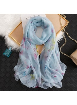 Chiffon Butterfly Sheer Sunscreen Scarf