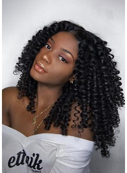 Sexy Afro Kinky Curl Layer Synthetic Hair Capless Wigs 22 Inches