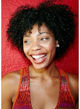 Kinky Curly Sexy Short Layer Synthetic Hair Capless Wigs 14 Inches