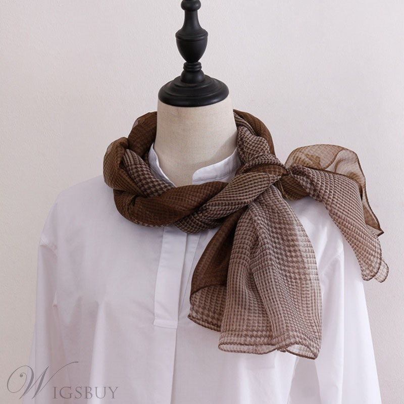 Artistic Pure Flower Cotton And Linen Fine Rack Scarf