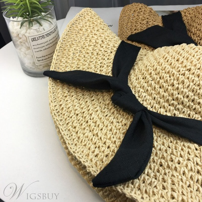 Bowknot Straw Hat For Women